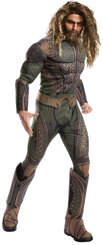 DC - Justice League Movie Disfraz Aquaman Deluxe Adultos, Color 0, Talla única (Rubies Spain 820751)