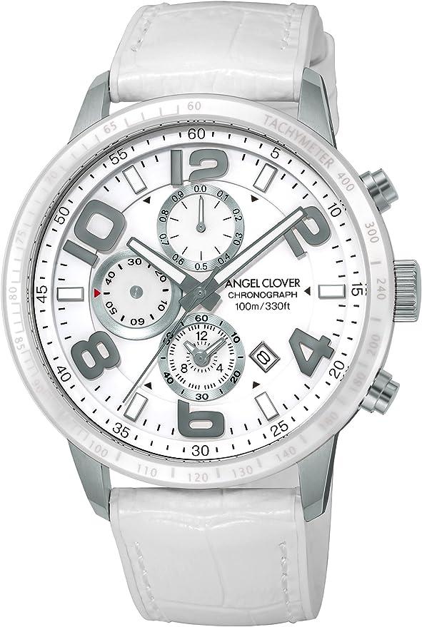 [エンジェルクローバー] 腕時計 LUCE ホワイト文字盤 クロノグラフ LU44SWH-WH メンズ ホワイト