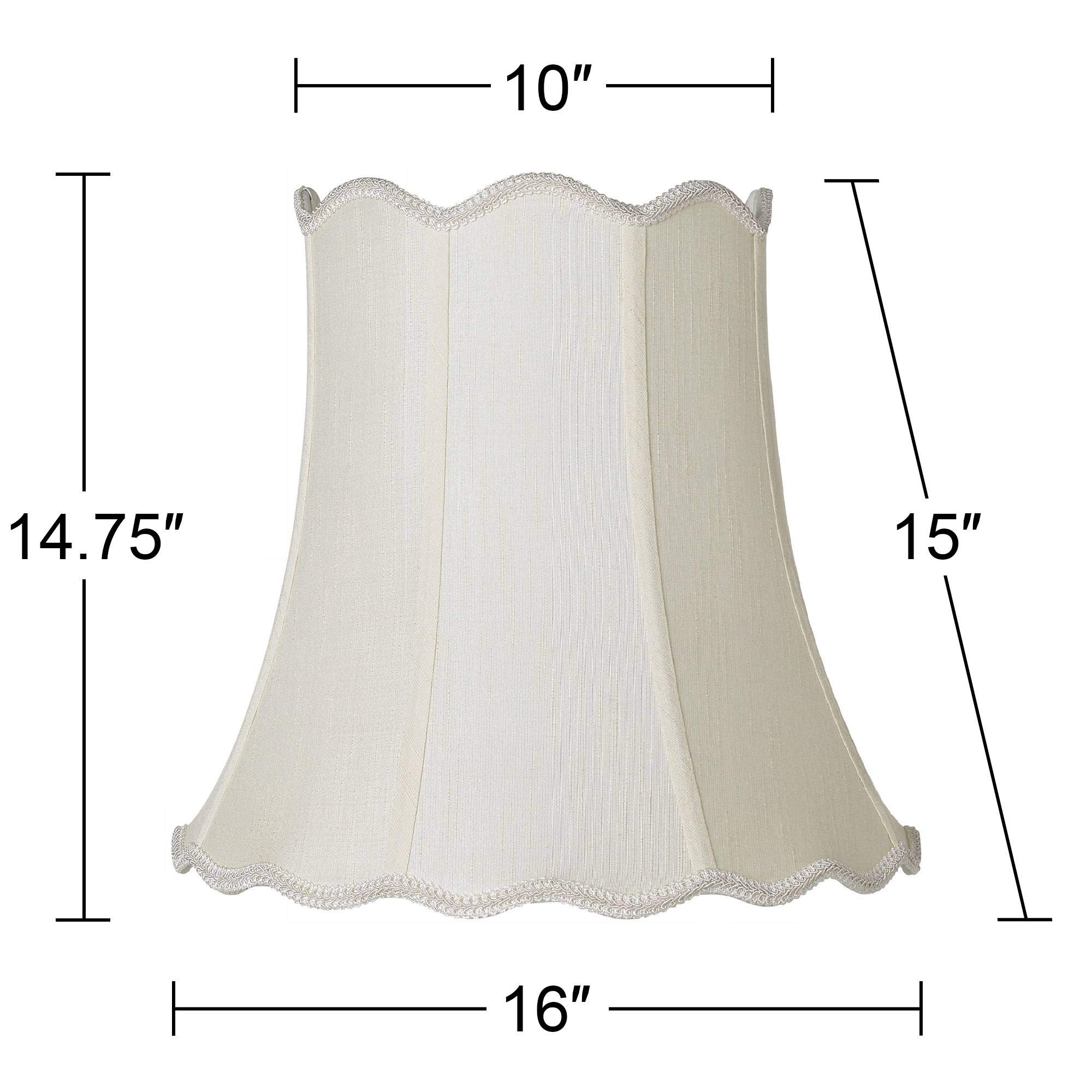 Imperial Creme Scallop Bell Lamp Shade 10x16x15 (Spider) - Imperial Shade by Imperial Shade Collection (Image #5)