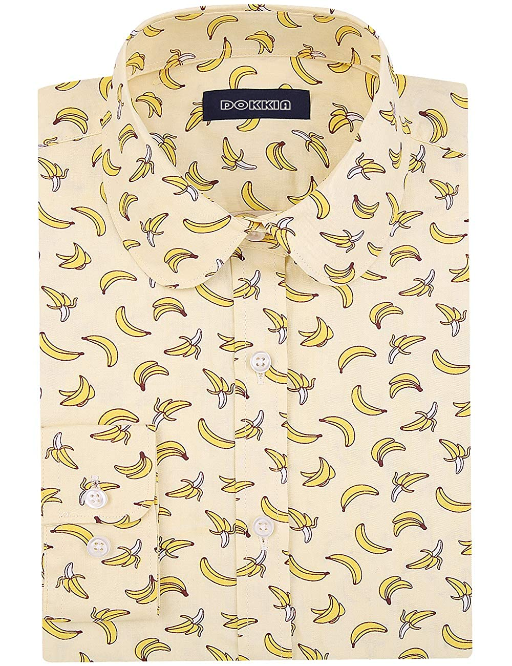 Amazon.com: DOKKIA blusas de vestir de manga larga con ...
