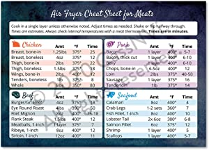 Air Fryer Cheat Sheet Magnet Top Air Fryer Accessories Air Fryer Cooking Times Chicken Wings in an Air Fryer Recipes Chicken Pork Beef Seafood Frying Times Air Fryer Chart Watercolor