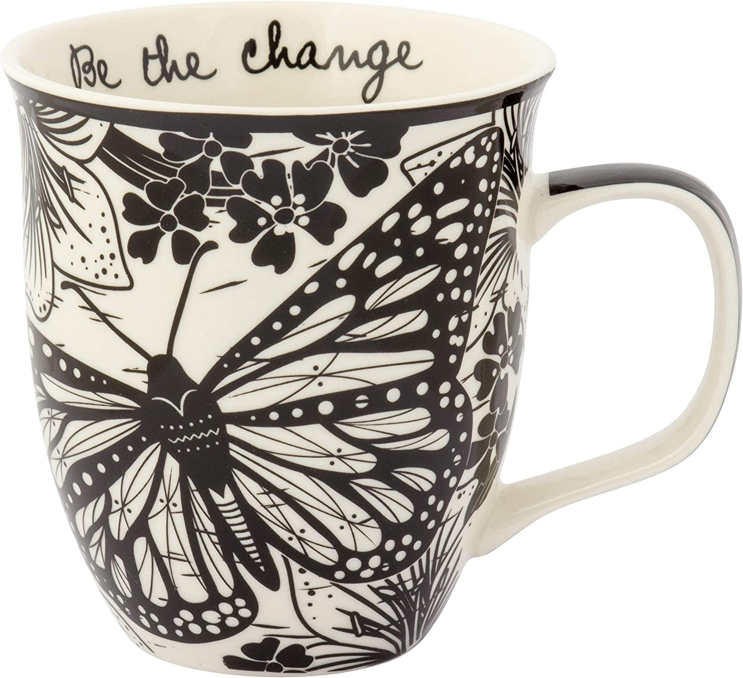 Nothing beats morning coffee in a mug that is gifted to you by your loved one. This black and white mug is perfect for your loved one and she will always remember you whenever she sips something from this gorgeous mug.