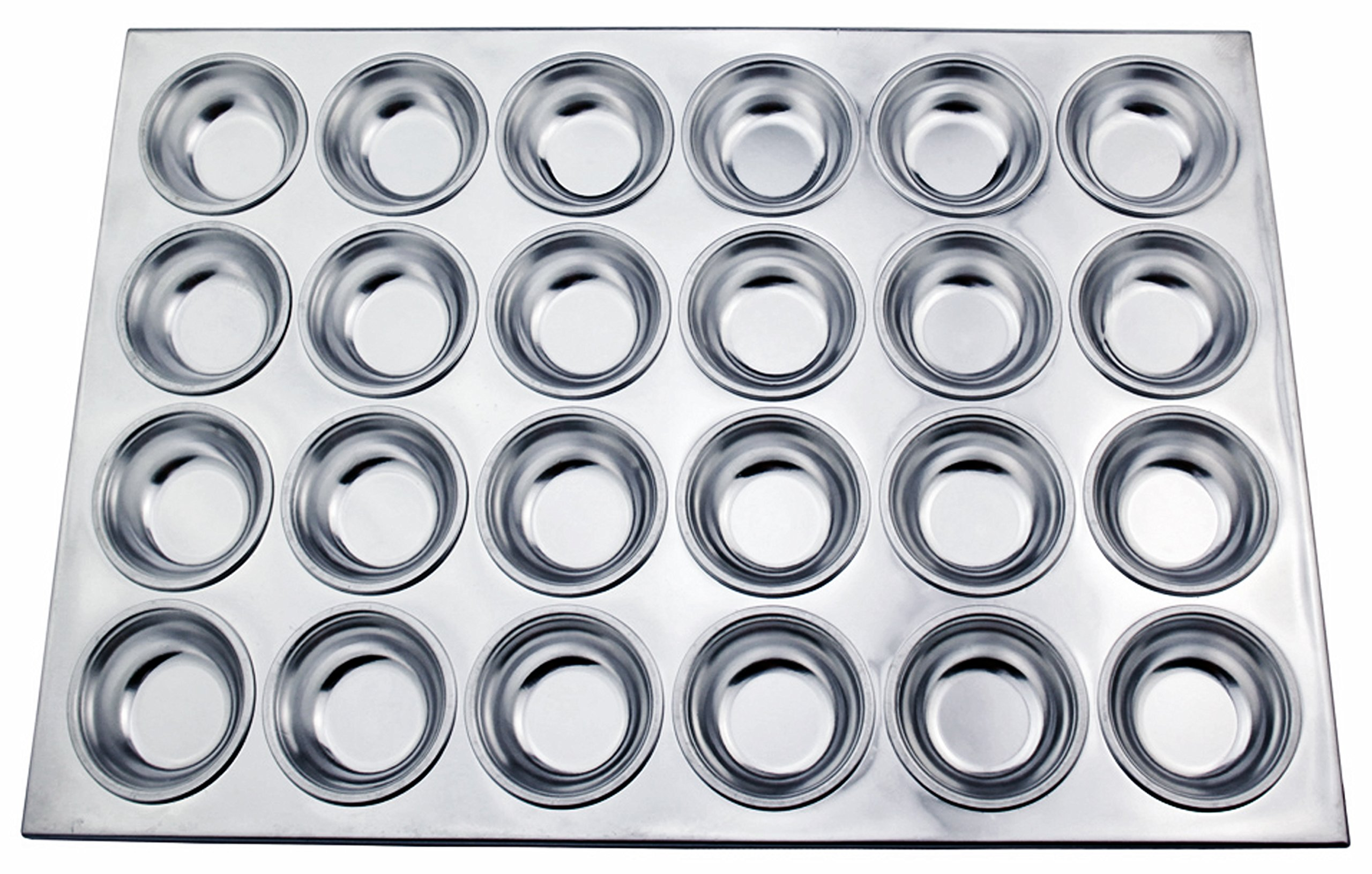 New Star Foodservice 37913 Aluminum Muffin Pan with 24 Cups (Pack of 12)