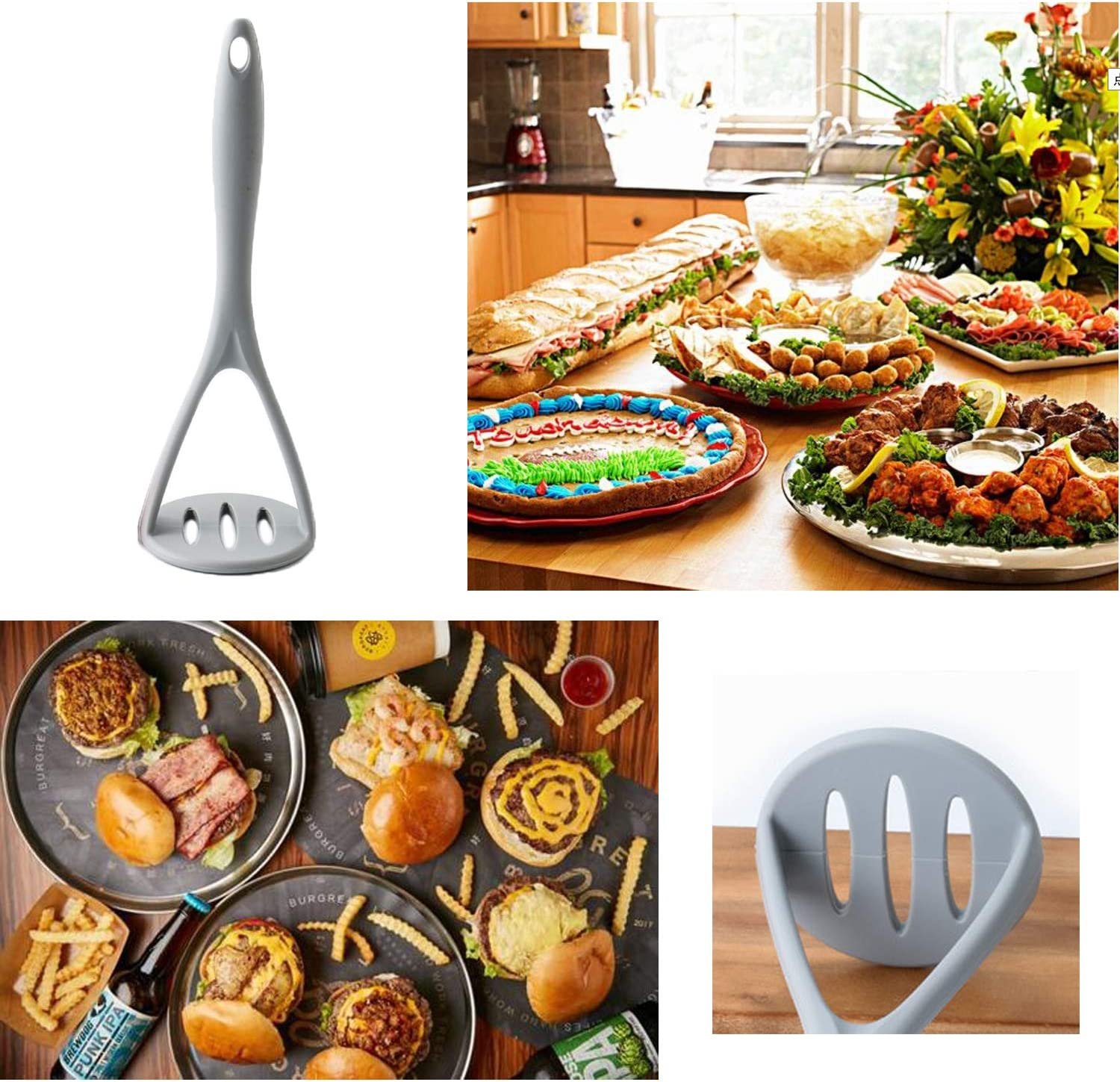 Mashed Potatoes Masher Silicone for Non-stick Pans Cookware