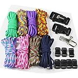 UOOOM Lot de Corde de Nylon et Multifonction Fermoirs à clip pour DIY Corde de Parachute Paracorde Bracelet (StyleB)