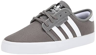 571f55dca472 adidas Skateboarding Men s Seeley Mid Cinder Running White Black (Canvas) 7  D