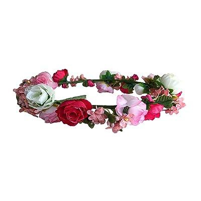 JTC Guirlande Couronne Floral Accessoire de Fête Mariage Bandeau de Cheveux Serre-tête Type6