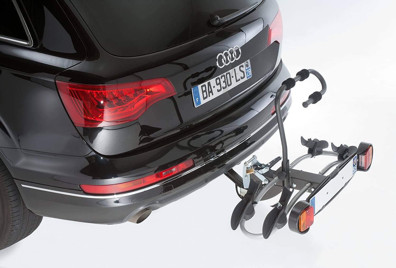 Mottez A018P2RA Bicycle Carrier for 2  Bicycles Towing Hitch  –   Premium Platform