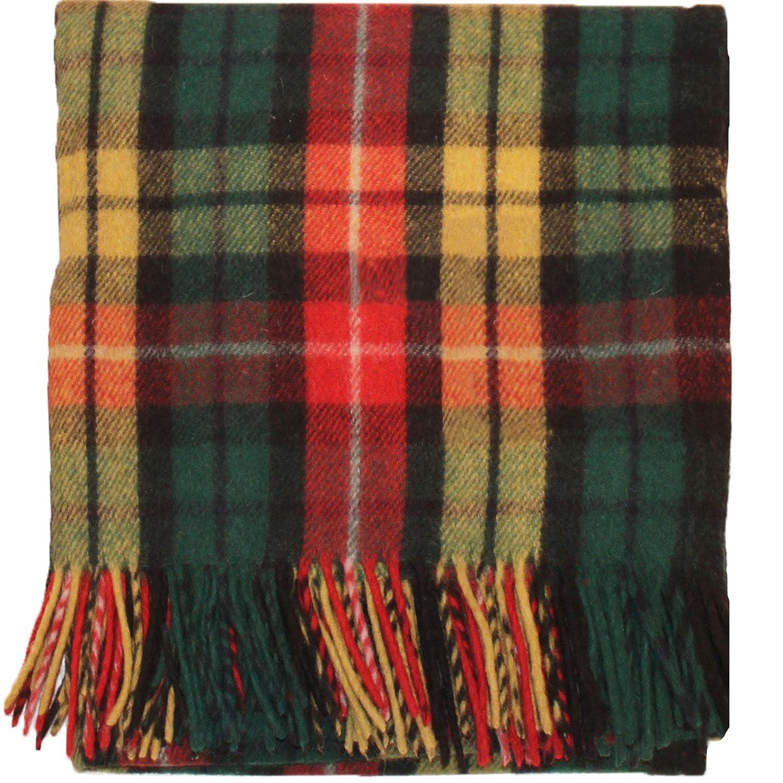 I Luv LTD Highland Scottish Wool Rug Blanket Throw Buchanan Tartan 69' x 62' (175cm x 157 cm)