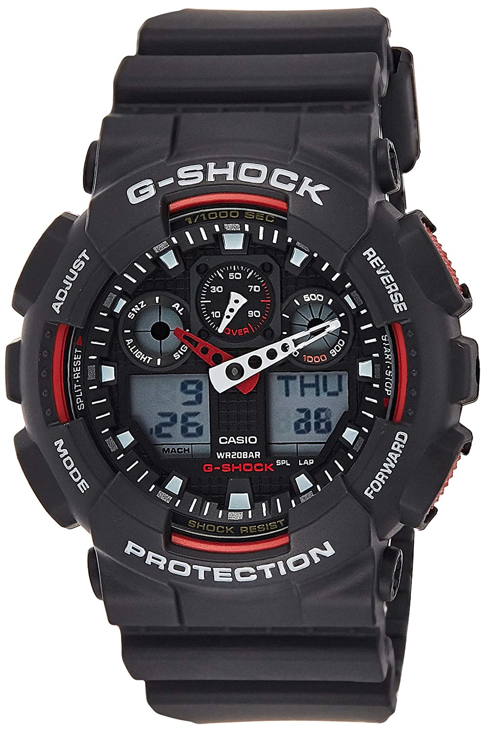 Casio G-Shock Ana-digi World Time Black Dial Men s watch GA100-1A4