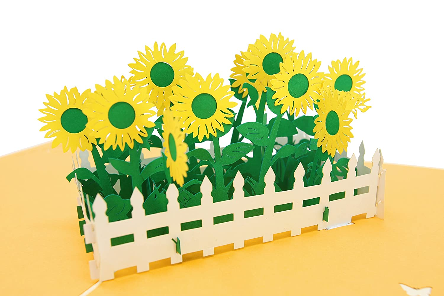 PopLife Sunflower Garden Pop Up Card, 3D Card for All Occasions - Gardening Gifts PopLife Cards