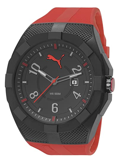 reloj puma hombre rojo