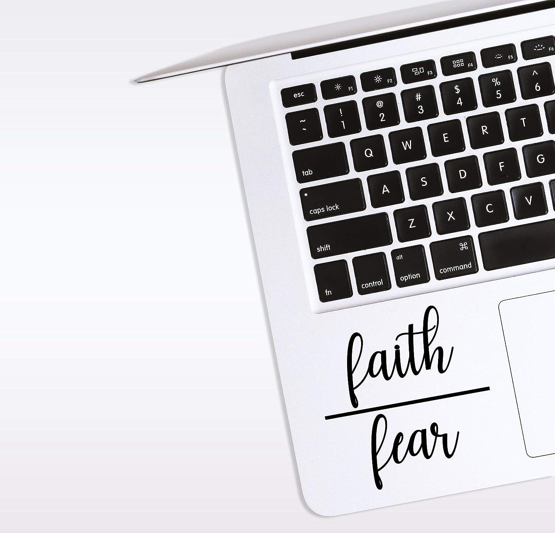 World Design Faith Over Fear Laptop Corner Decal
