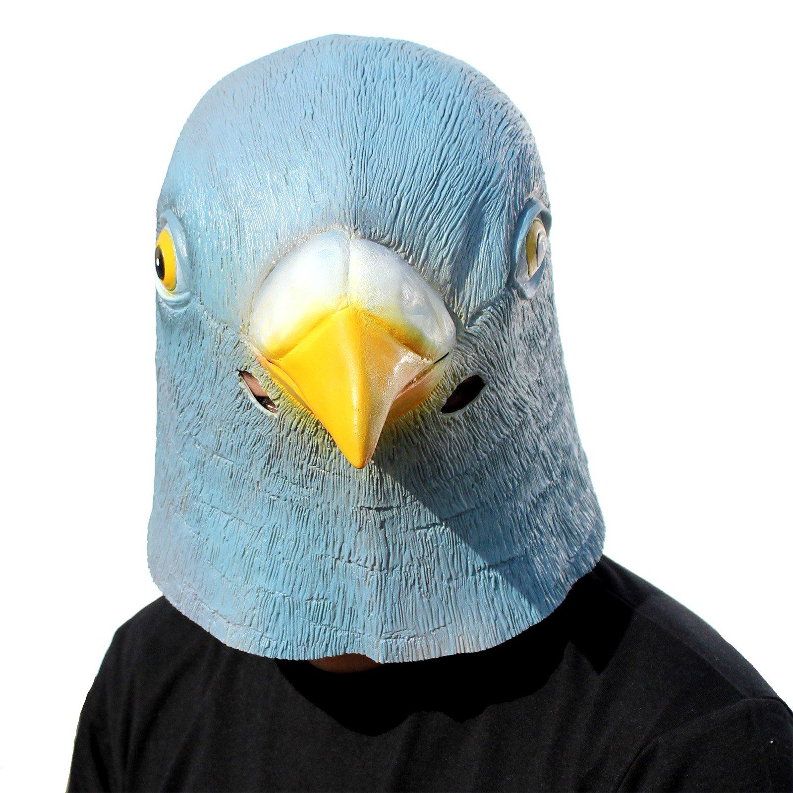 ویکالا · خرید  اصل اورجینال · خرید از آمازون · CreepyParty Novelty Halloween Costume Party Latex Birds Head Mask (Pigeon) Blue wekala · ویکالا