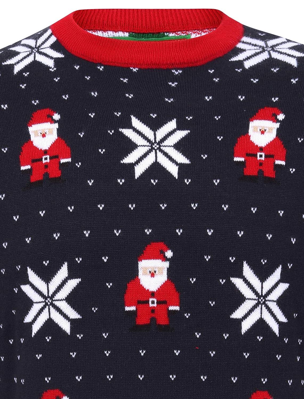 Tokyo Laundry Jersey de Navidad con cuello redondo y luz LED