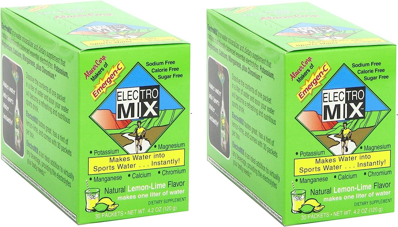 Emergen-C Electro Mix, Lemon Lime, 30-count 4.2 oz/120 g ...