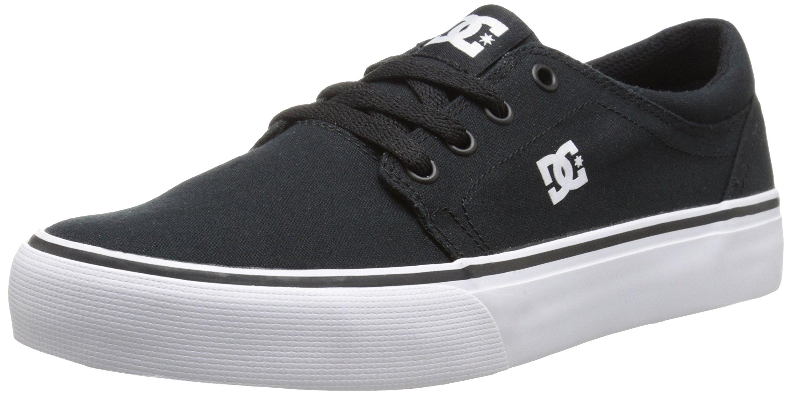DC Trase TX Skate Shoe,Black/White,4