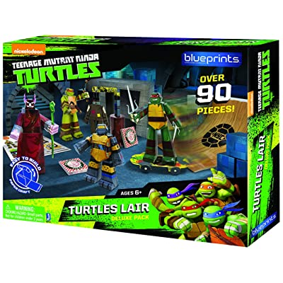 TMNT Blueprints- Turtles Lair Deluxe Pack: Toys & Games
