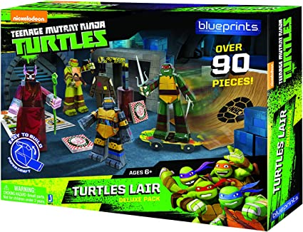 TMNT Blueprints- Turtles Lair Deluxe Pack