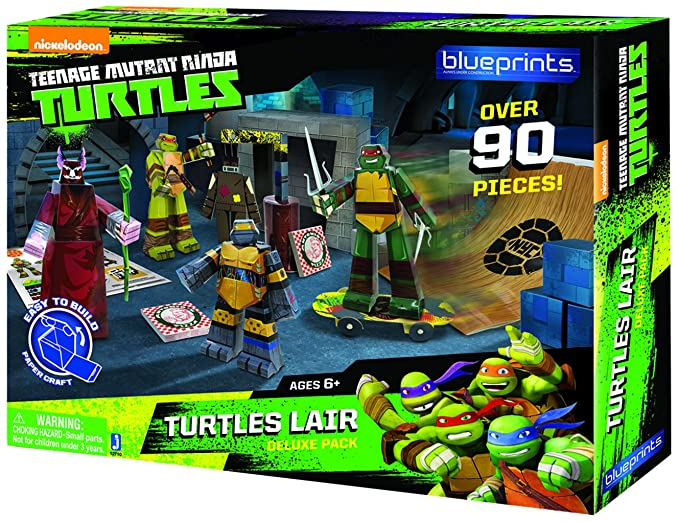 Amazon.com: Guarida de las Tortugas blueprints- Deluxe Pack ...