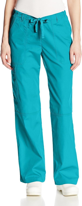 pour Milieu mdical Pantalon m/édical st/érile CHEROKEE Femme 4020 Pantalon Cargo Taille Basse avec Cordon de Serrage