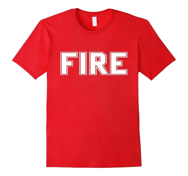 Firefighter Halloween Costume T Shirt-T-Shirt