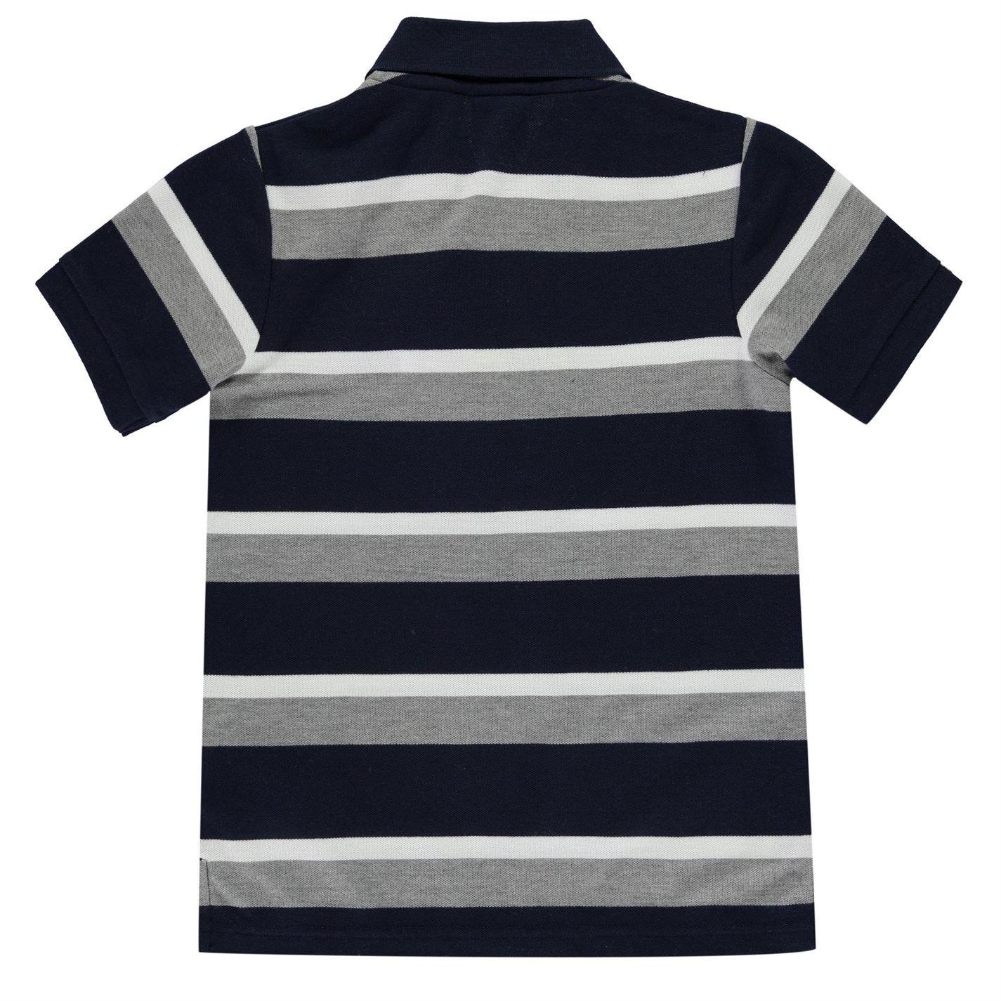 Lonsdale - Polo - Manga Corta - para niño Navy/Grey/White Large ...