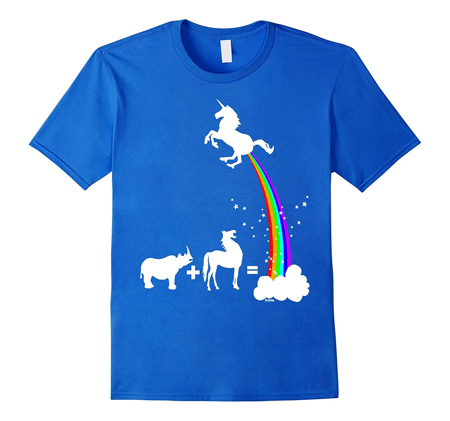 a368cd8a24 Funny Unicorn rainbow T-shirt kid adult women girl top gift-RT ...