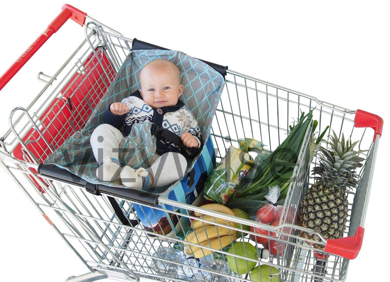 Baby Shopping Cart Hammock Supermarket Trolley Cover sling   0-6 months age vizywise