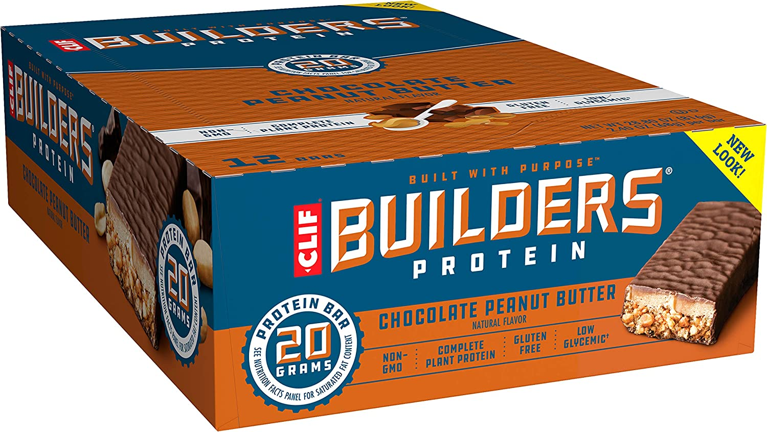 CLIF Builders Protein Bars – Chocolate Peanut Butter Flavor