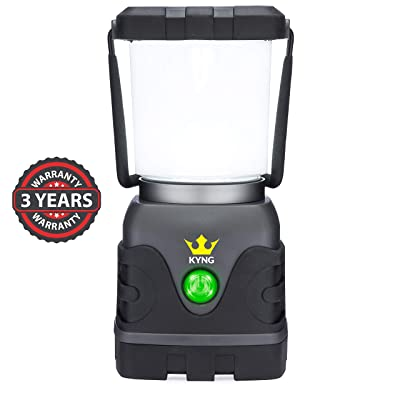 KYNG Camping Lantern 1000 Lumens Bright & Dimmable Warm & Cool White LED Light Modes