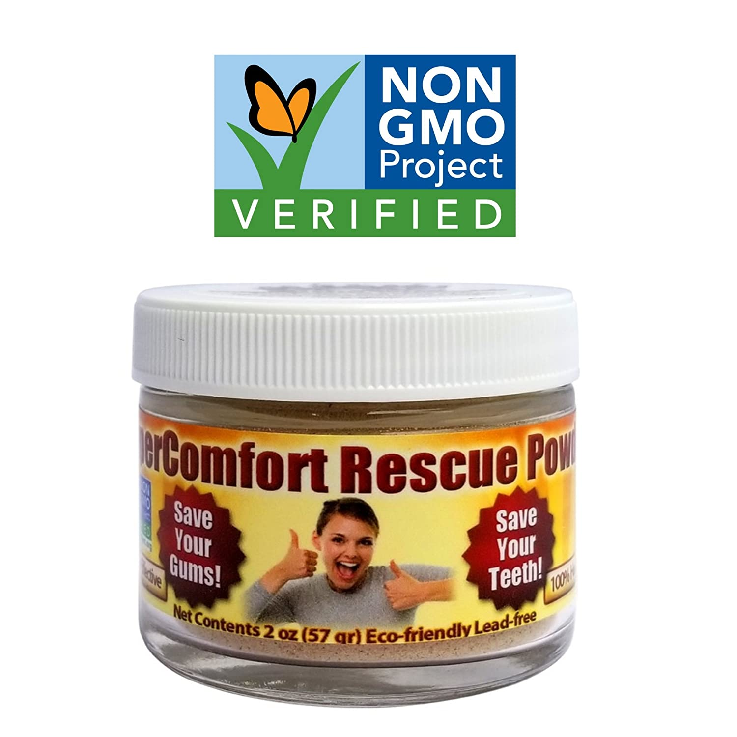 Dental RESCUE Tooth Powder - Optimize your Dental Care: Gum Disease, Gum Recession, Plaque Build-up, Toothache, Bad Breath, Gingivitis, Root Canal, Whitening, Bleeding Gums, Sensitivity, Inflammation Anti-Aging Company