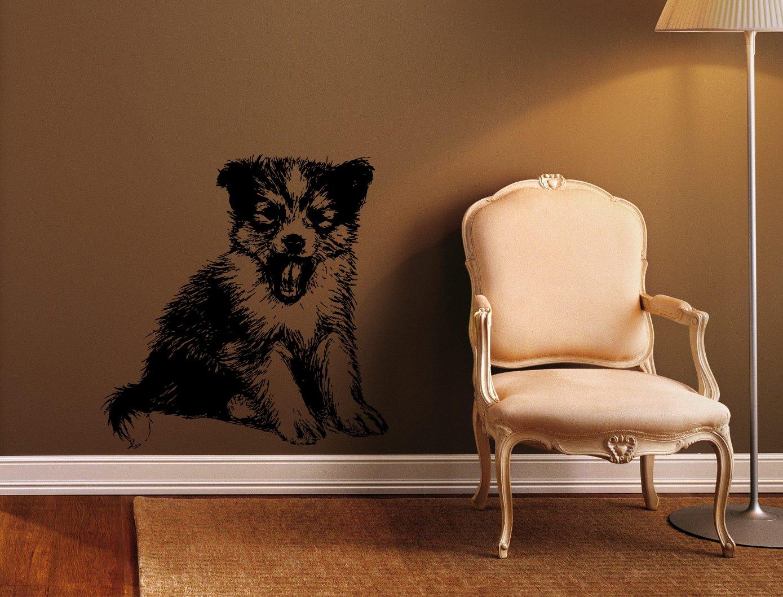 スタイリッシュな子犬ペット子犬Cuties子供部屋壁アートステッカーデカールg9457   B019IVGLQ8
