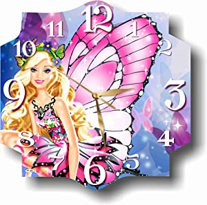 MAGIC WALL CLOCK FOR DISNEY FANS Barbie 11'' Handmade Made of Acrylic Glass - Get Unique décor for Home or Office – Best Gift Ideas for Kids, Friends, Parents