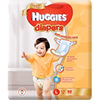 Huggies Gold Large Diapers, 62 Count