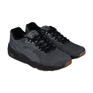 Conveniente Emular molécula  Puma R69 Knit Mesh V2 Mens Black Mesh Lace Up Trainers Shoes ...
