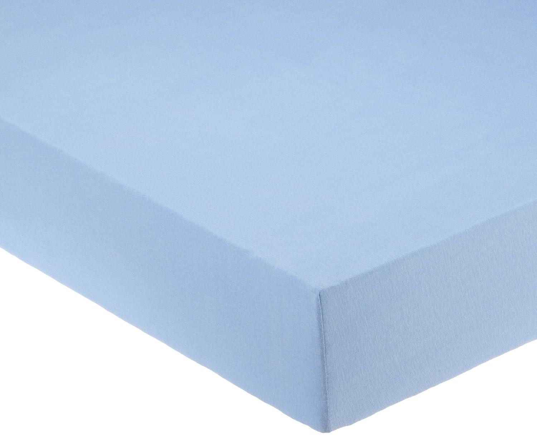 Pinolino 540004-2 - Spannbetttuch für Wiegen, Jersey, hellblau