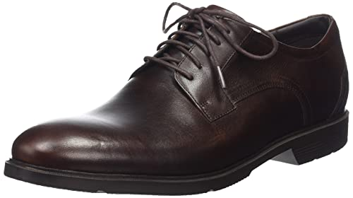 Rockport City Smart Plain Toe, Men Oxford, Brown (Brown Leather), 10.5