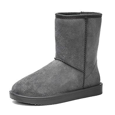 low priced e226f e009d DKSUKO Schneestiefel Damen Wasserdicht Schlupfstiefel Halbstiefel Warm  Gummistiefel Winter Warm Gefüttert Klassisch Stiefel Boots 36-42EU …