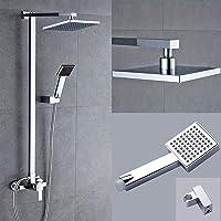 SAILUN Panneau de douche Set de douche Système de douche avec thermostat de douche Douche à effet de pluie Tige de douche avec douchette et douche à effet pluie