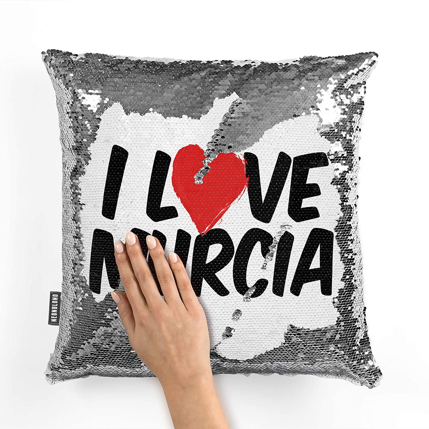 Amazon.com: NEONBLOND Mermaid Pillow Cover I Love Murcia ...