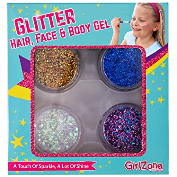 GirlZone Face Hair Body Cosmetic Glitter Makeup Great Birthday Present Gifts Idea
