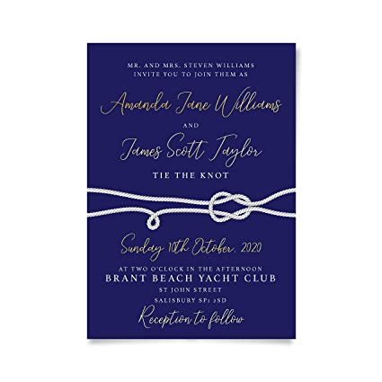 amazon com sticker personalised wedding invitations pdf nautical