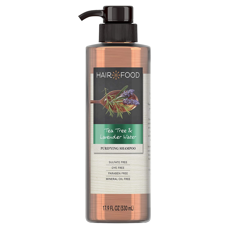 Sulfate Free Shampoo, Dye Free Purifying Treatment, Tea Tree and Lavender, Hair Food, 17.9 FL OZ
