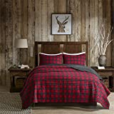 Woolrich WR14-1783 Check Quilt Mini Set Full/Queen Red,Full/Queen