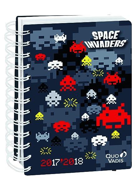Quo Vadis 1281037Q - Agenda Escolar con espirales 2017-2018 Día/página, con espirales, Space aliens