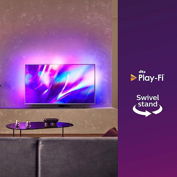 Philips 50PUS8505/12 Ambilight - Televisor, Smart TV de 50 pulgadas (4K UHD, P5 Perfect Picture Engine, Dolby Vision, Dolby Atmos, Control de voz, Android TV), Color plata claro (modelo de 2020/2021): Amazon.es: Electrónica