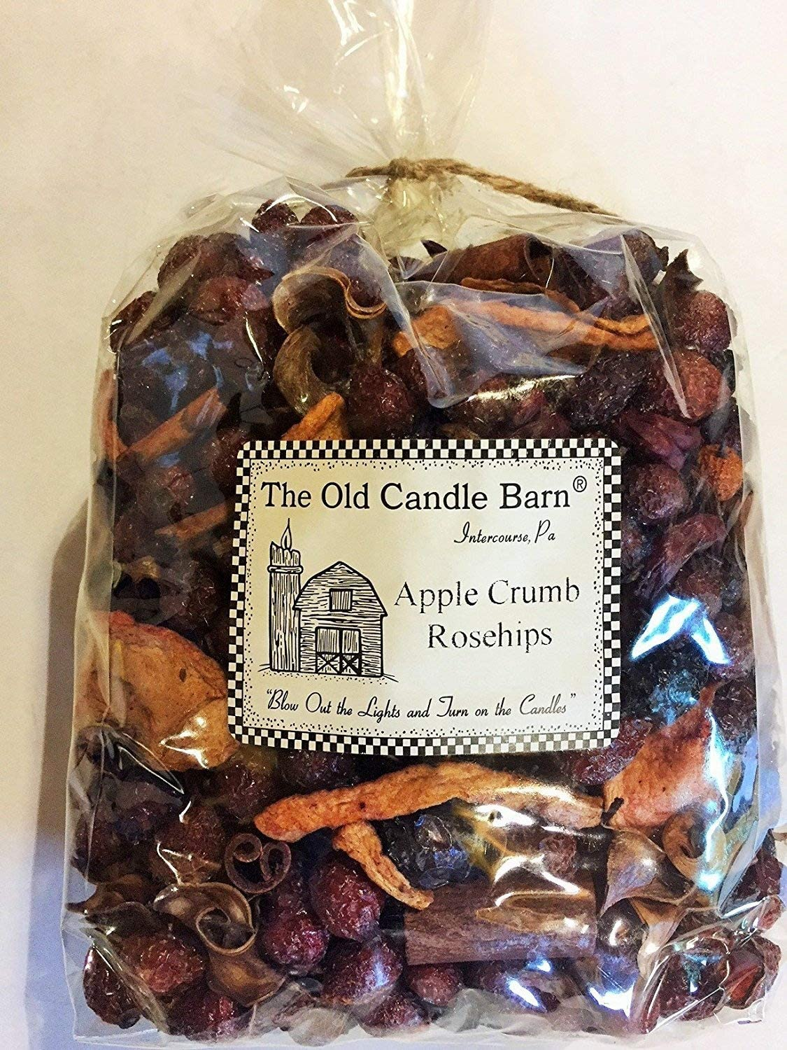 Old Candle Barn Apple Crumb Rosehips Large Bag - Well Scented Potpourri - Made in USA