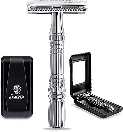 ✔ DOUBLE EDGE RASURAR HABILIDAD DE CONFORT rasuradora:- Cambio de cuchilla fácil, rápido y seguro. H