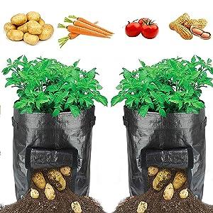 HYRIXDIRECT Portable Potato Growing Bag